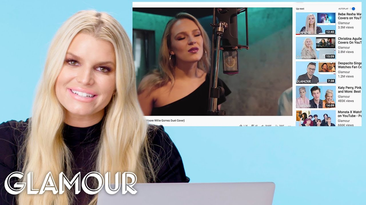 Download Jessica Simpson Watches Fan Covers On YouTube   Glamour