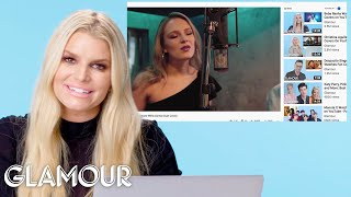 Jessica Simpson Watches Fan Covers On YouTube | Glamour