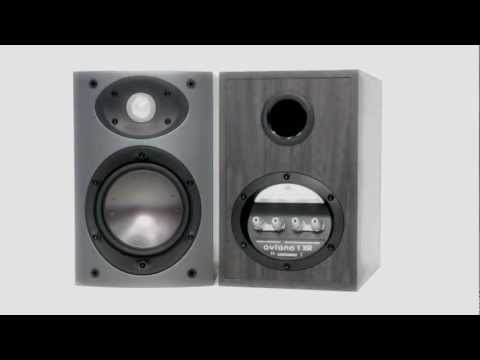black Mordaunt-Short Aviano 1 Bookself Speaker PAIR