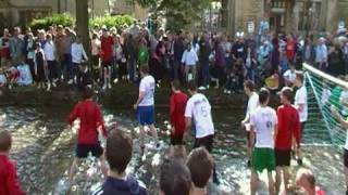 Bourton on the Water football match in the River Windrush 2009