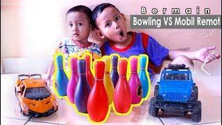 Mainan Anak Bermain Bowling Dan Mobil Remot | Playing Bowling And RC Car