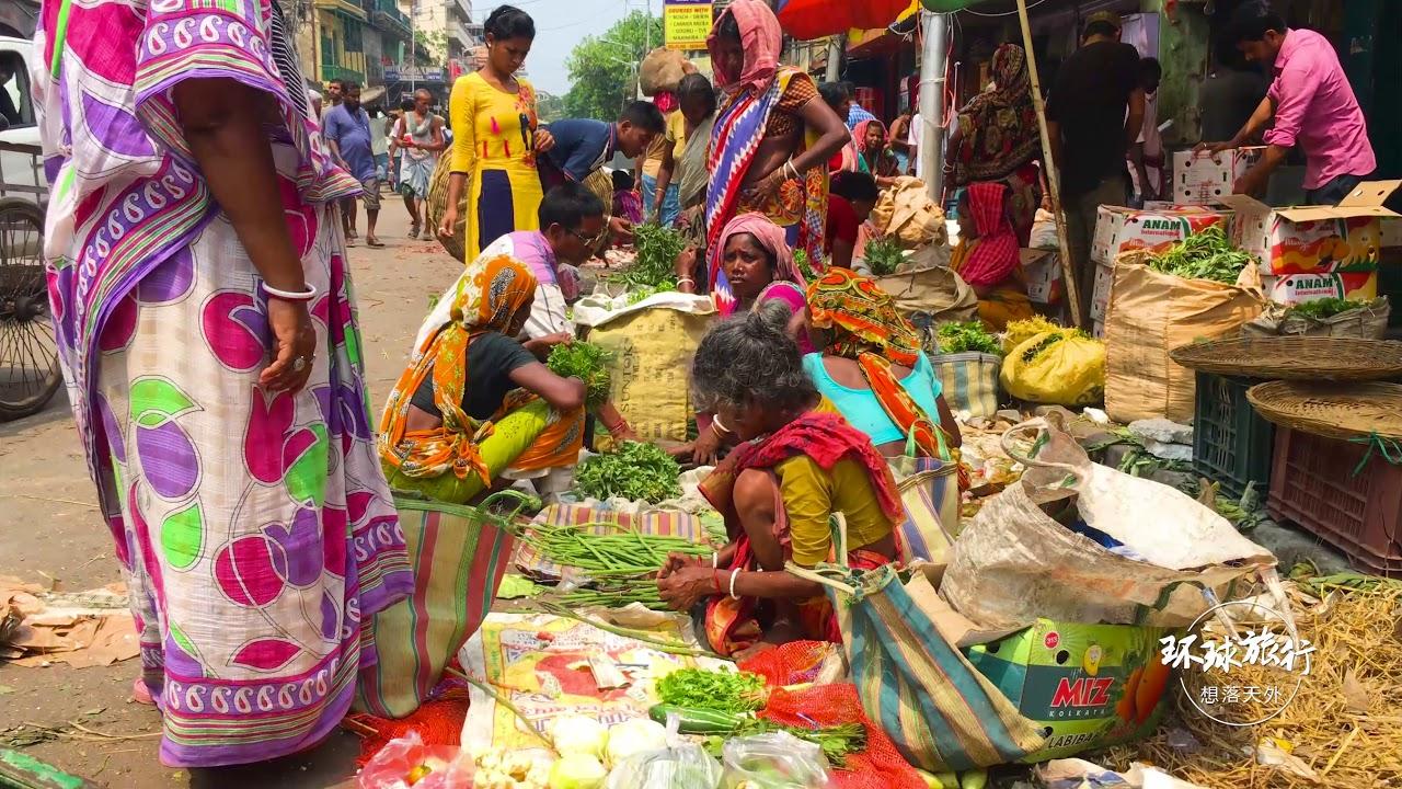 印度真的脏乱差吗?走进农贸市场,看真实市井生活
