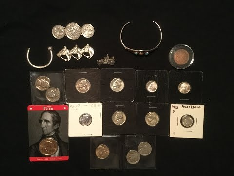 Foreign Silver Coins, Key Date Jefferson Nickel, Numismatic Coins & Vintage Jewelry!