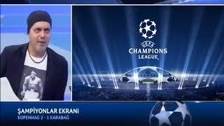 Türkiyə kanalında Qarabağ FK tarixi matçda Kopenhageni keçməsi haqqında danışıldı.(Ali Ece)