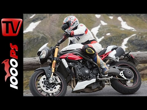 Triumph Speed Triple R Test  in den Alpen 2016 | High Bike Testcenter Paznaun