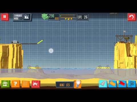 Build a Bridge Level 26 Android 3 star Walkthrough  