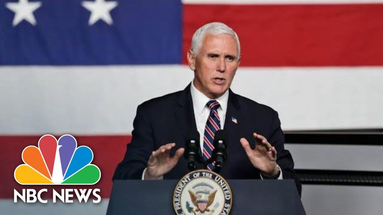 Live: Pence Makes Remarks At Celebrate Freedom Rally In Texas Amid Coronavirus Surge | NBC News - NBC News thumbnail