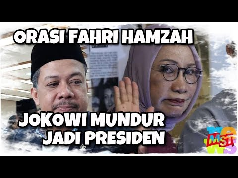 Orasi Fahri Hamzah Bela Ratna: Minta Jokowi Berhenti Jadi Presiden, Disambut Takbir