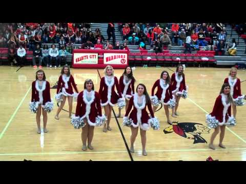 Granite City HIgh School Dance Team  performing Thier CHRISTmas dance  December 14 2012