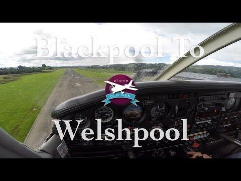 PA28 Blackpool - Welshpool VFR | ATC Audio