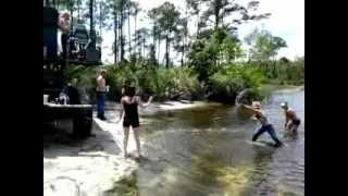 Fun in the Sun, South Florida GIRL LOST HER TOP IN MUD FIGHT