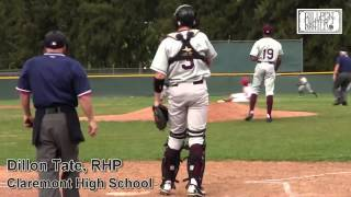 Dillon Tate, RHP Claremont High School Prospect Video