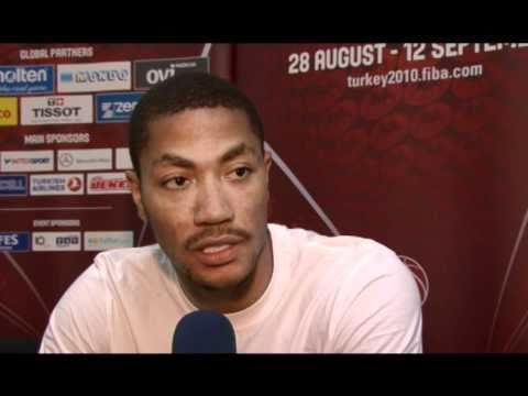 Interview with Derrick ROSE (USA) - 2010 FIBA World Championship in Turkey.
