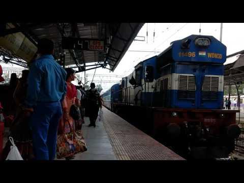 SPJ WDM-3D 11496 With LTT- Jayanagar janasadharan Express Skipping Thane