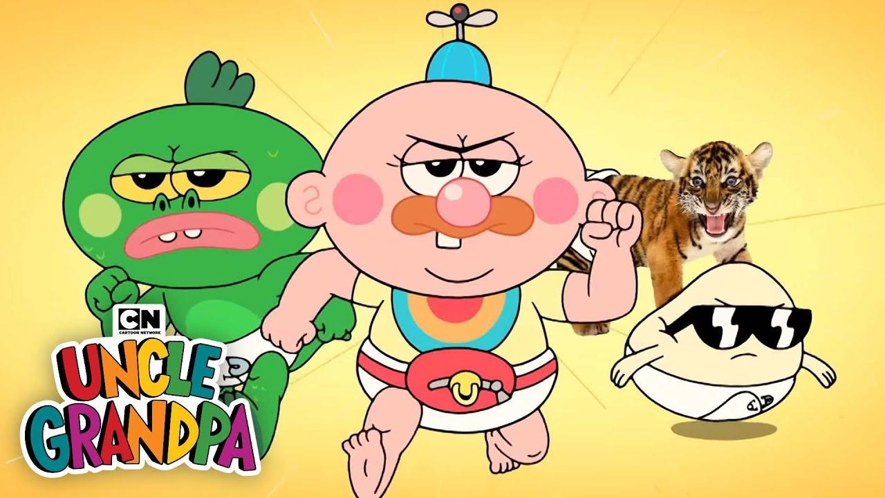 Uncle Grandpa Babies I San Diego Comic Con I Cartoon Network Youtube