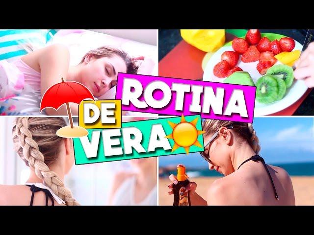 ROTINA DE VERÃO - DICAS, PRAIA, MAKE e mais | Jana Taffarel