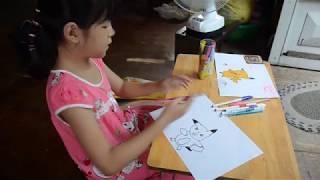 Chíp Bông hướng dẫn các bạn vẽ tranh Picachu