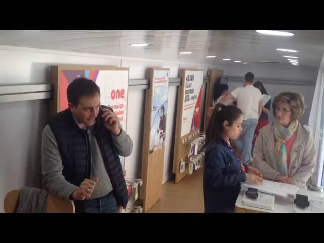 Autobuses publicitarios Escenario Vodafone