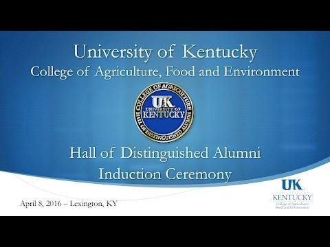 2016 Hall of Distinguished Alumni - College of Agriculture, Food & Environment
