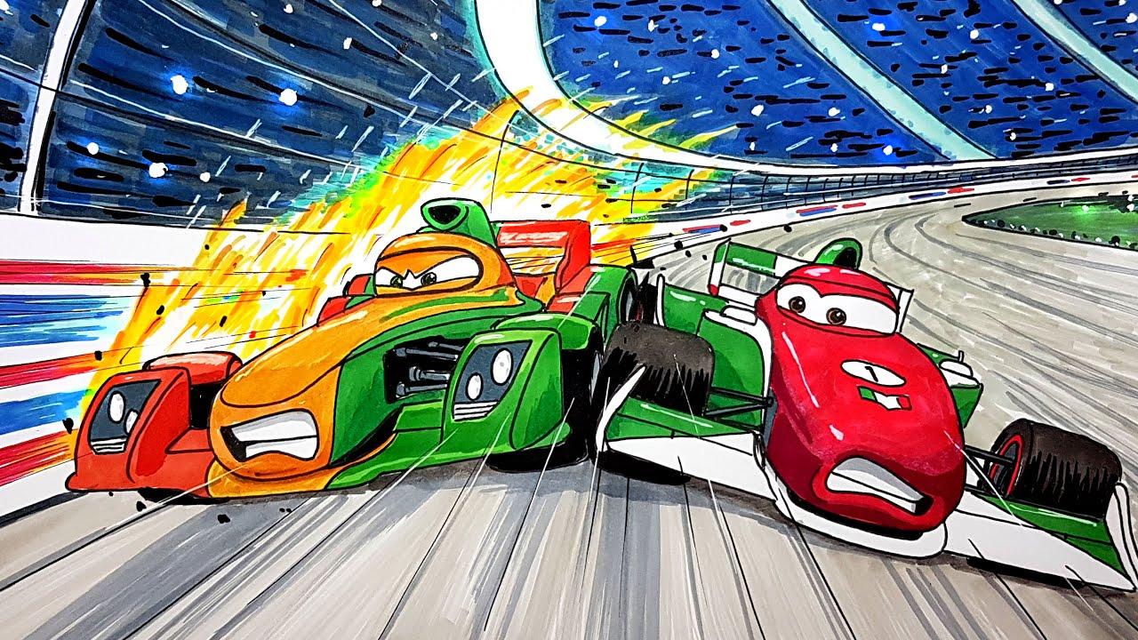Draw Francesco Bernoulli Vs Rip Clutchgoneski Cars 2 Drawing And Coloring Pages Tim Tim Tv Youtube