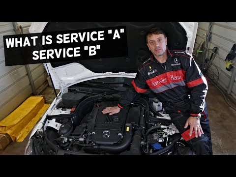 WHAT IS SERVICE A ON MERCEDES W204 C200 C220 C250 C300 C350