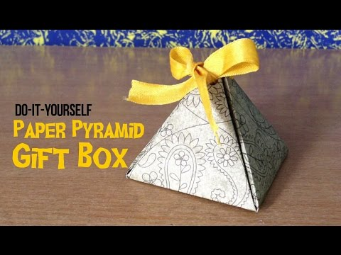 How to make a paper gift box | DIY Paper pyramid gift box | The DIY Stop