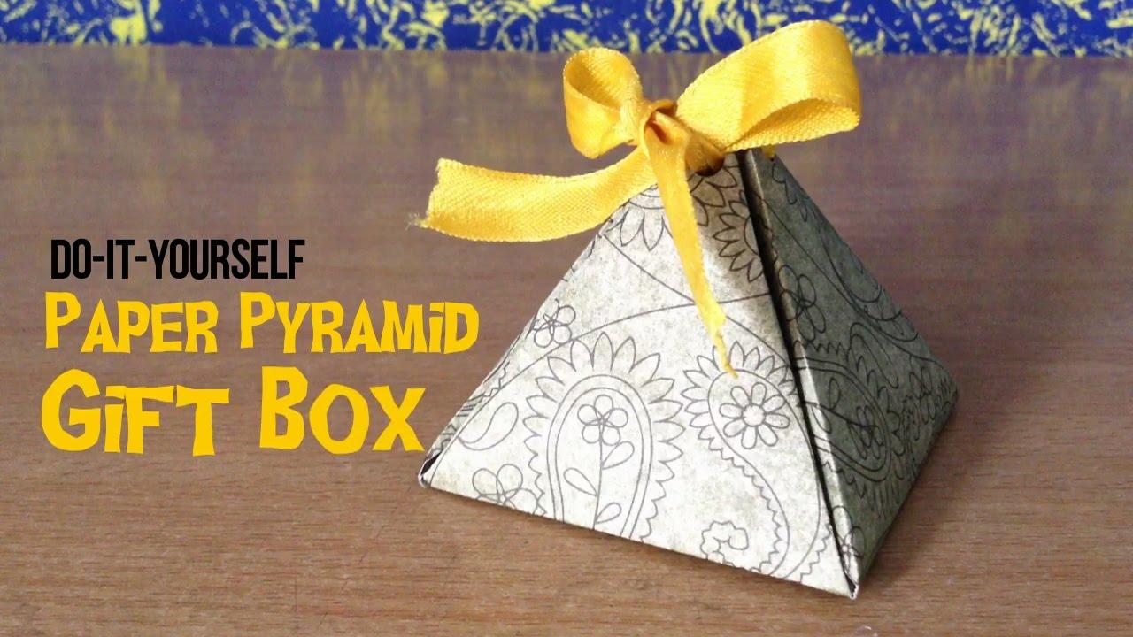 How to make a paper gift box diy paper pyramid gift box the diy how to make a paper gift box diy paper pyramid gift box the diy stop solutioingenieria Choice Image