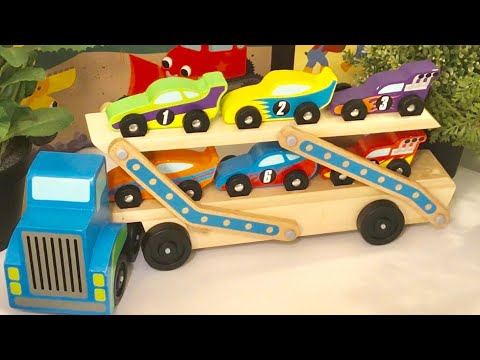 Melissa And Doug Race Cars  And Carrier