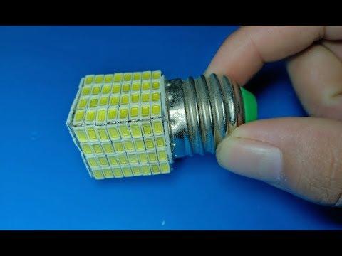 DIY Super bright 160 LEDs combination , amazing idea