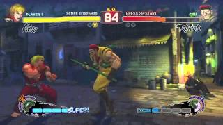 Ultra Street Fighter IV (Xbox 360) Arcade as Ken