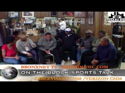 ON THE BLOCK SPORTS TALK at THE ROSY's MARBLE HILL BARBERSHOP DBNEBMUSIC 04/13/ 2013