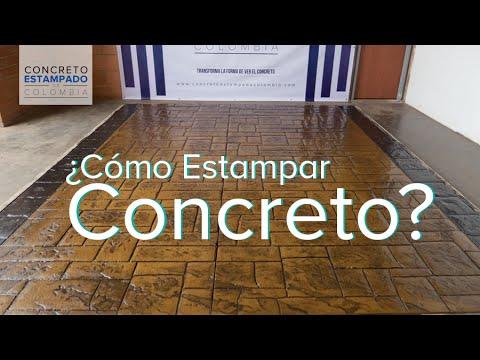 Concreto estampado muestra 2 youtube for Como hacer un piso de cemento paso a paso