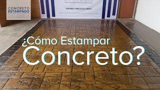 Concreto Estampado - Muestra 2