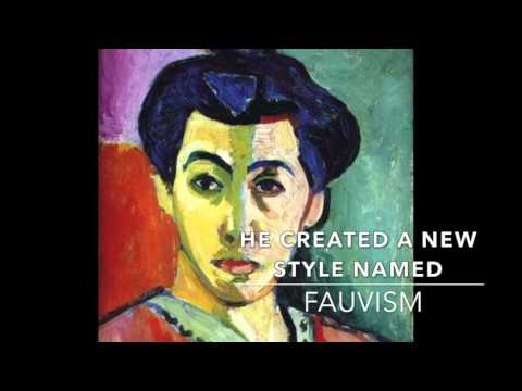 Henri matisse brief biography and paintings / great for kids and esl