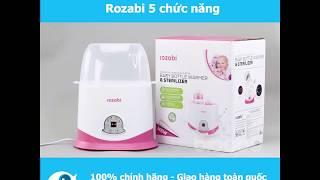 Máy hâm sữa tiệt trùng cảm ứng Rozabi 5 chức năng - Bibabo