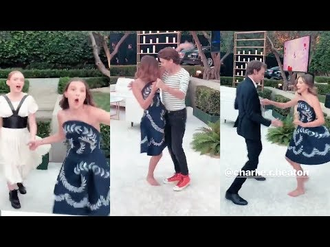 Stranger Things Cast dancing at Pre-Emmys Party