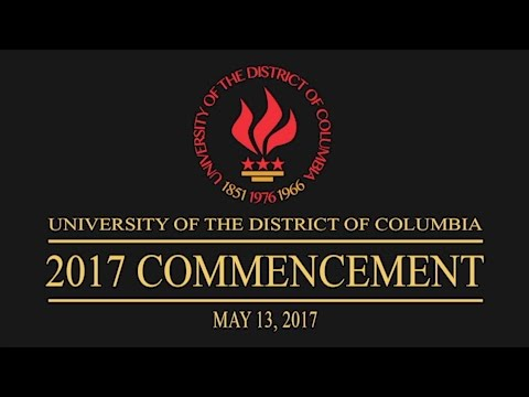 The University of the District of Columbia 2017 Commencement