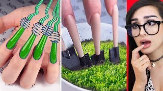 Weirdest NAIL ART that should NOT EXIST part 5