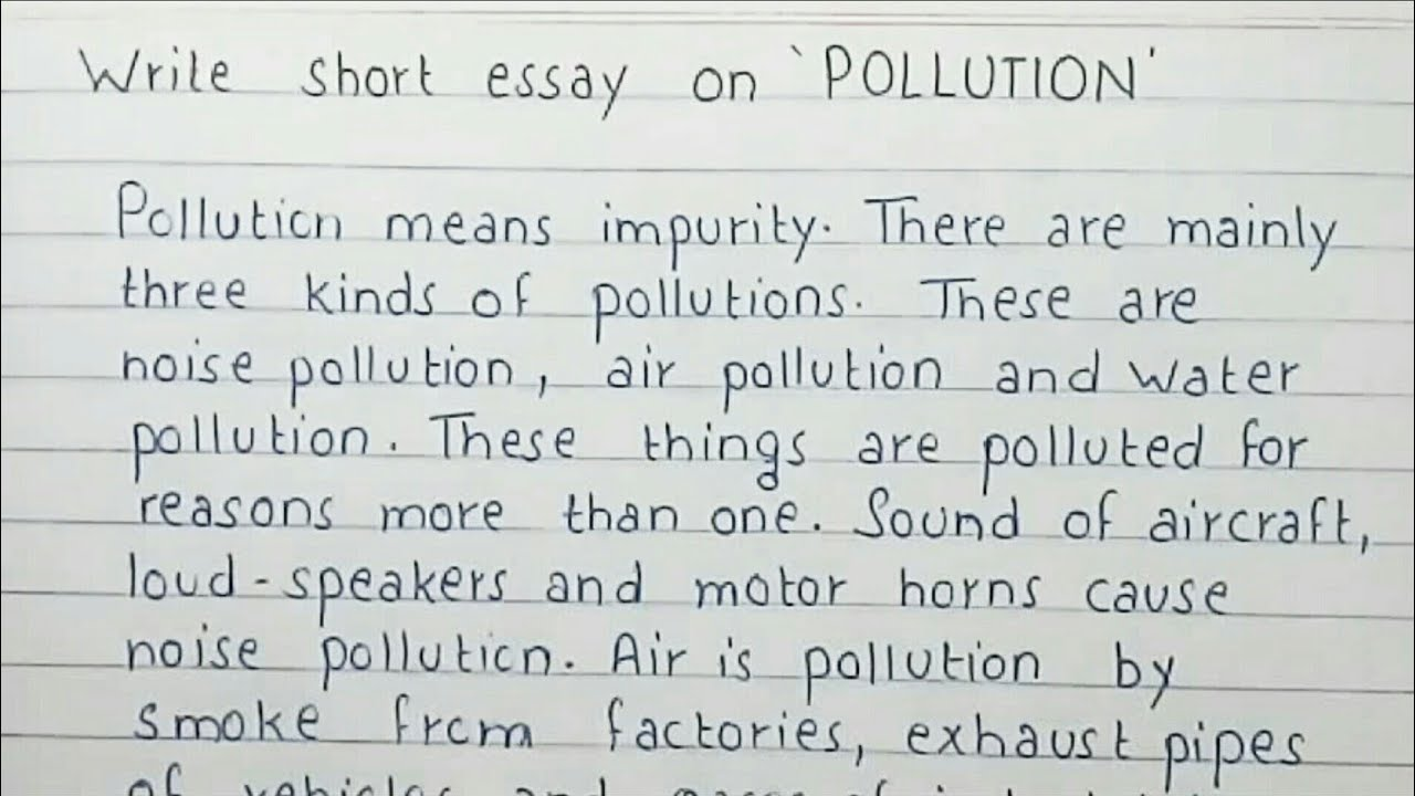 Complete essay on pollution and its effects for college students