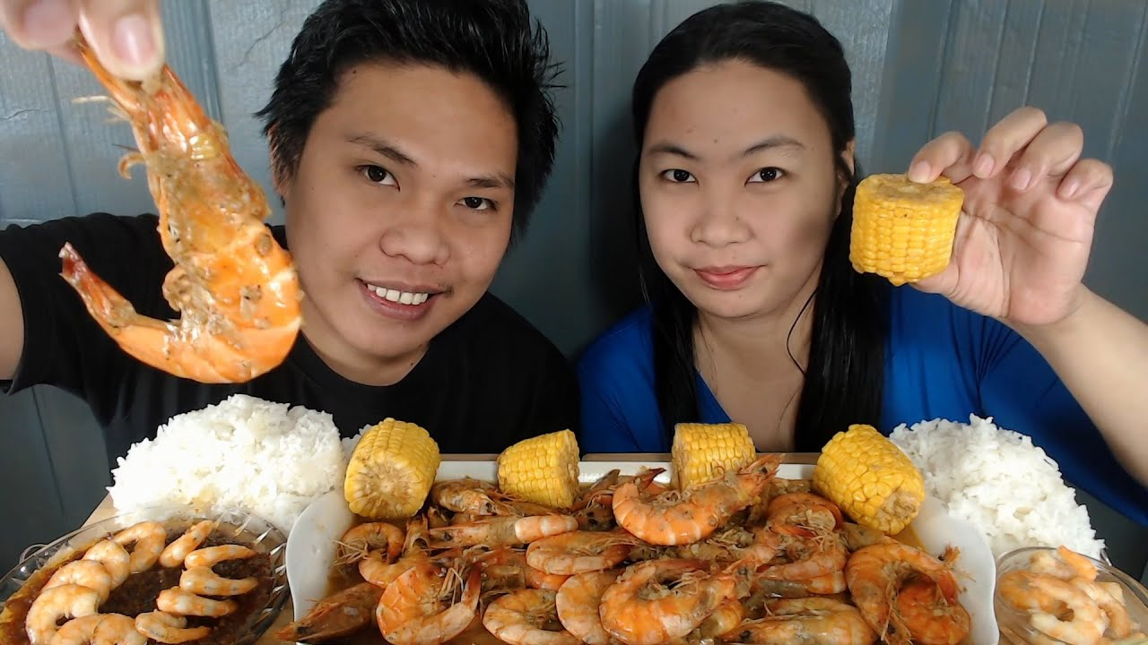 Download Buttered Garlic Shrimp + Fried Shrimp with Chili Garlic Sauce Mukbang   Mother's Day Special