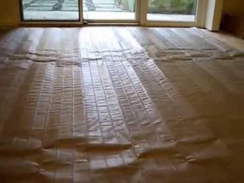 nuheat electric radiant heated floor mat for tile floor installation