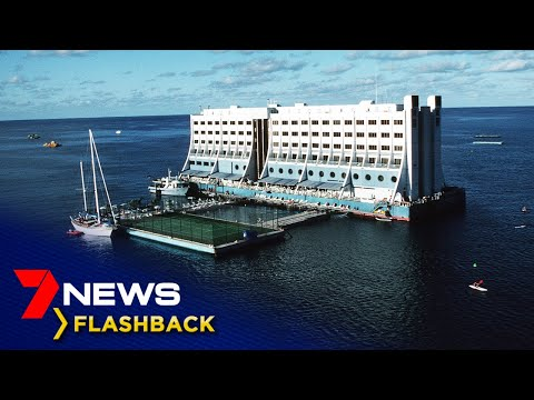 The rise and fall of the world's first floating hotel | Flashback | 7NEWS