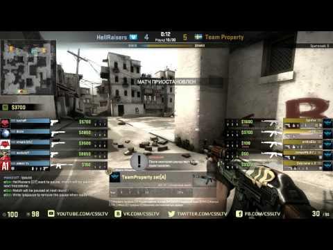 HellRaisers vs  Team Property, FragBite Masters, dust2 emilio VAC BAN live