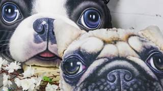 Подушки декоративные Собачки 3D - Ивтекс37