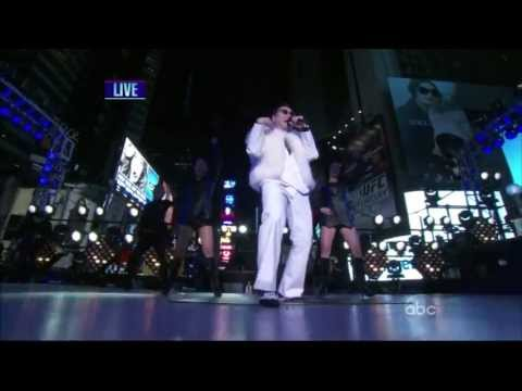 PSY with MC Hammer,Gangnam Style, At Time Square, New Years Rockin Eve 2013 ,HD 720p
