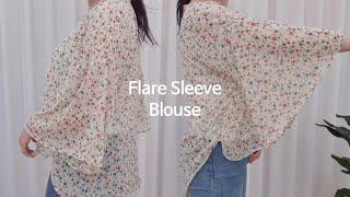 [Sewing Vlog] 플레어 소매 블라우스 :: F…