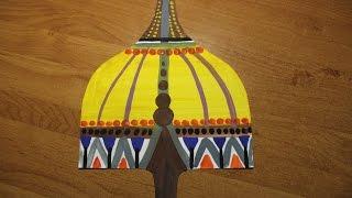 Как нарисовать шлем богатыря гуашью. Видео уроки рисования для детей 5-7 лет.(Как нарисовать орнаменты гуашью. Легко! Смотрите пошаговую инструкцию на канале