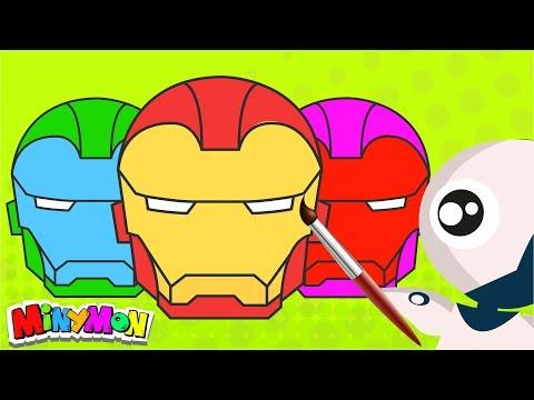 COLOR SWAP IRON MAN HELMET | Avengers Coloring Book