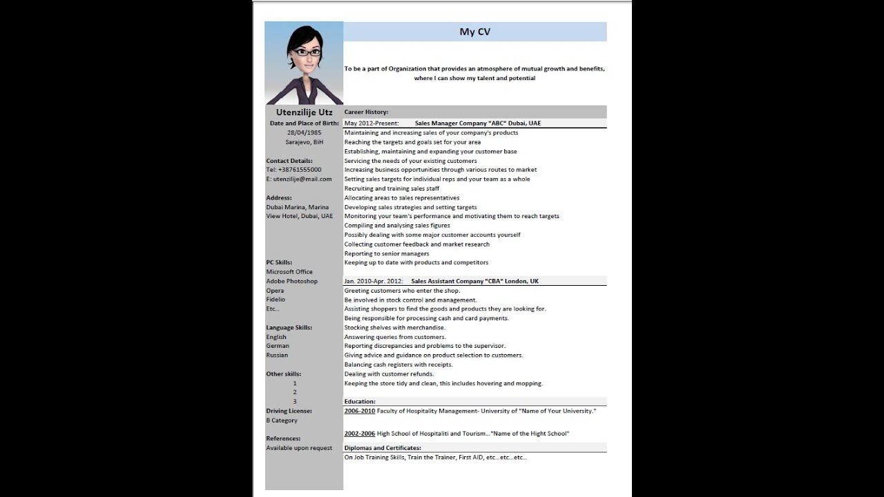 How To Make Cv Attractive And Good One New 2016 Youtube
