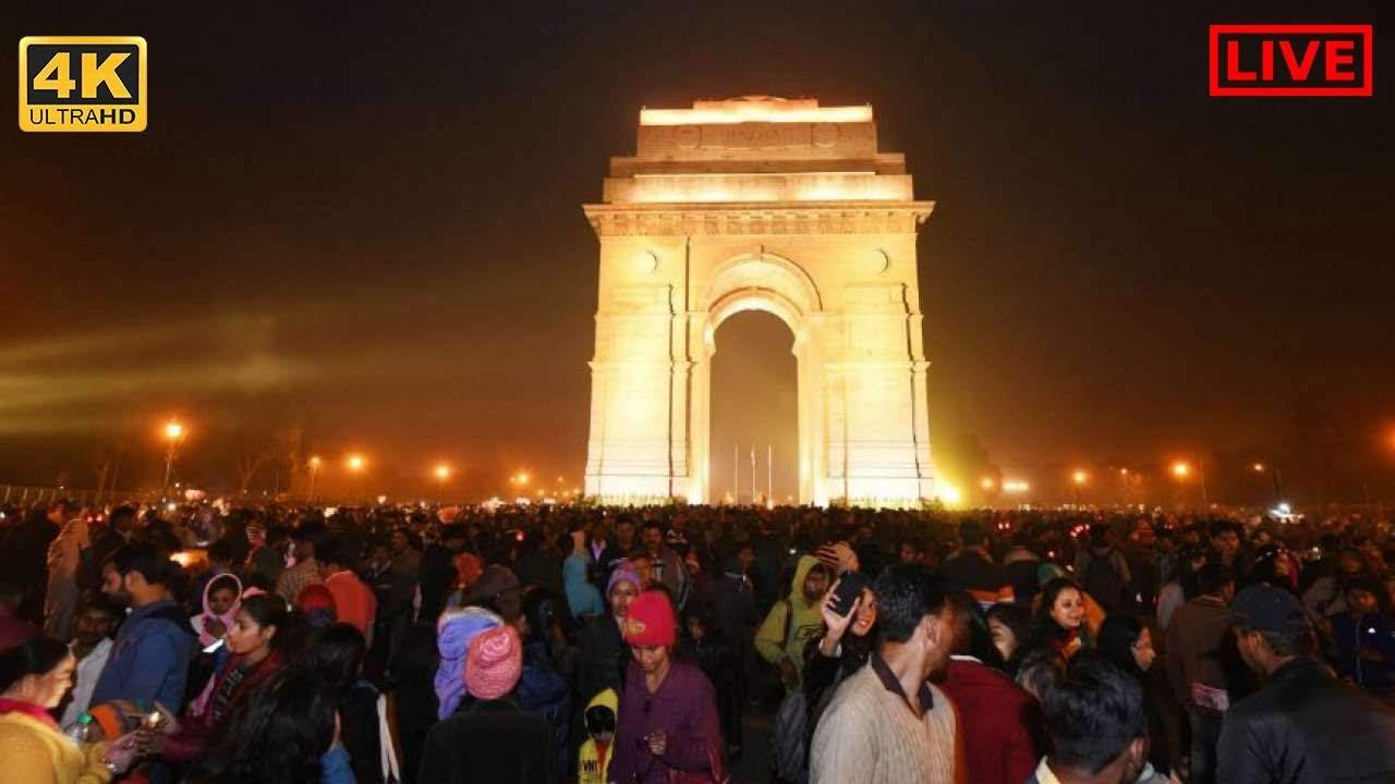 Watch New Year 2019 Live Celebration from India Gate, Delhi